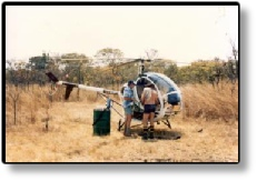 Operation Malawi 1986- Hughes 300 helicopter